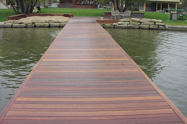 Wood Source | Decking | Dark Red Balau Stained